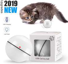 USB Rechargeable Smart Cat Interactive Toy Balls 360 Degree Automatic Rolling Ball Anti-Break Bite Self Rotating Pet Cat Ball
