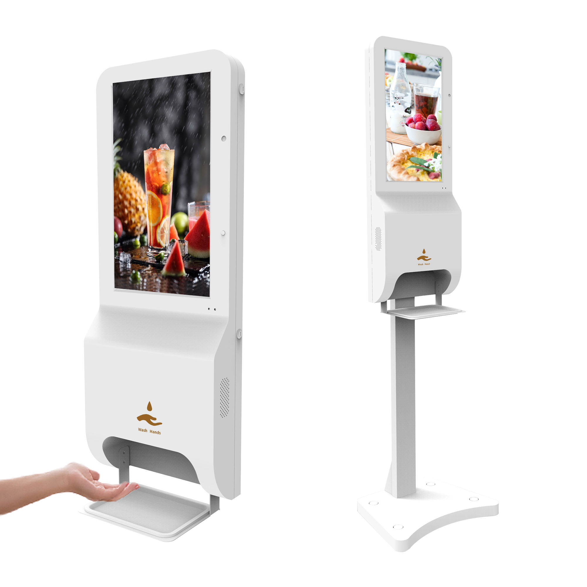 <span class=keywords><strong>lcd</strong></span> electronic hand sanitizer touch free digital signage totem android advertising display