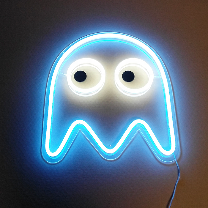 New Pac-Man ghost real acrylic neon light sign home beer bar man cave pacman sign custom made