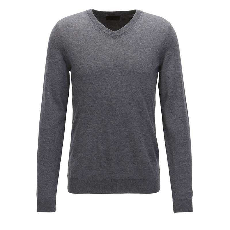 custom knitted woolen pullover designs v-neck men's sweaters