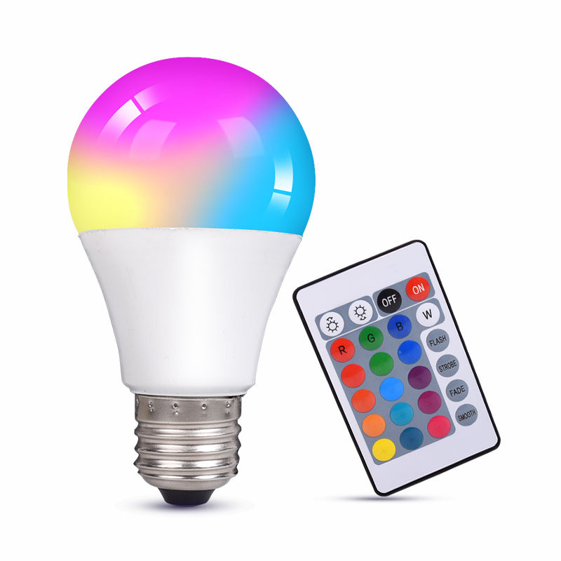10W Riflettore di RGB IR Telecomando E27 16 Cambiamento di Colore RGB Magic Light Lampada ha condotto la <span class=keywords><strong>lampadina</strong></span>