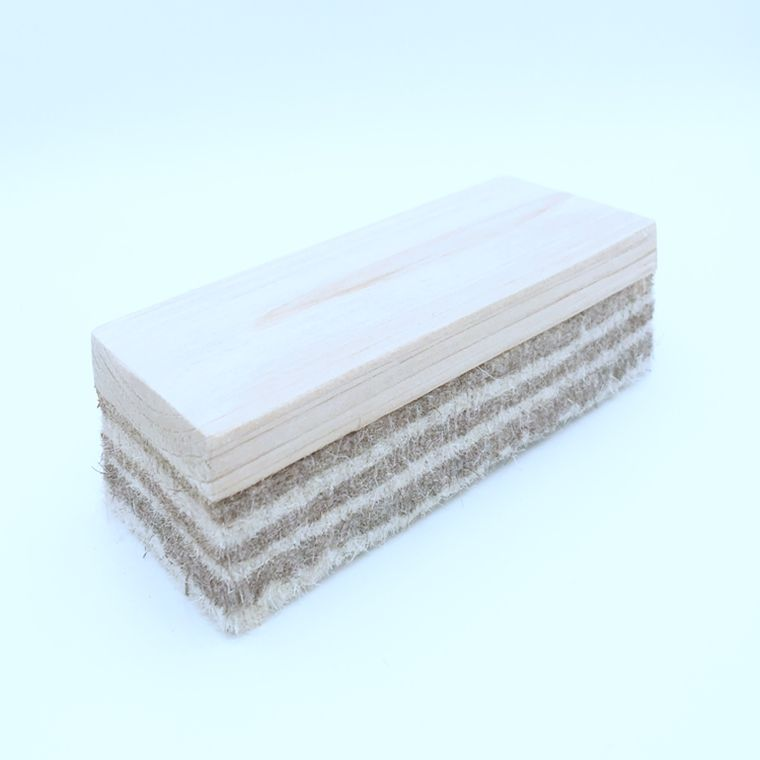 Factory manufacture various white in China chalkboard eraser wood