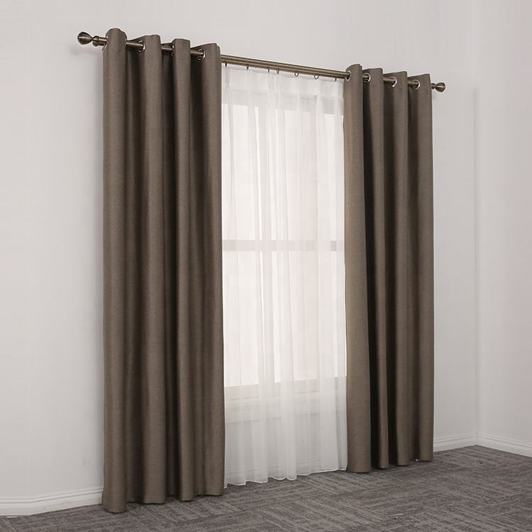 Wholesale stock lot flat window black out household cloth indoor curtain