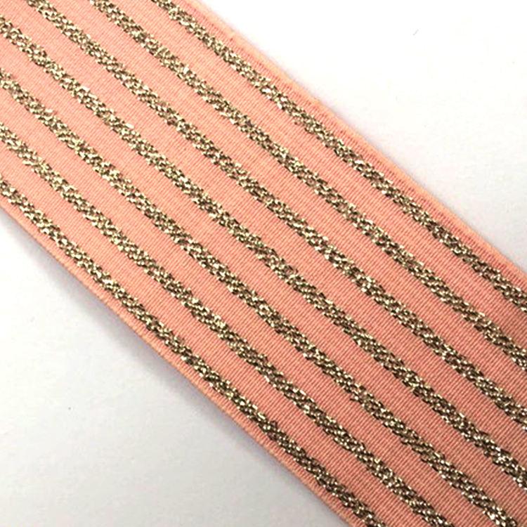 Precio bajo Promoción de rayas de algodón correas elástico Arco Iris cinta de encaje para prendas de vestir