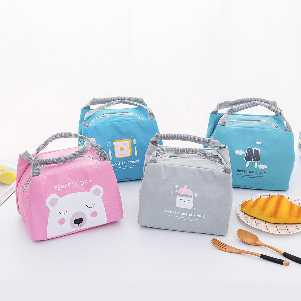 New Thermal Insulated Lunch Box Tote Cooler Zipper Bag Bento Lunch Pouch Hot