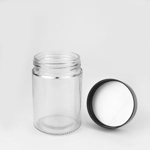 Manufacturer 30 60 80 100 110 180 240 300 360 500 650 ml empty storage thick glass apothecary jar with screw lid