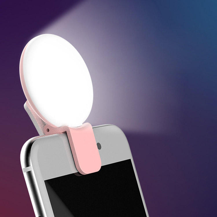 DC 5V Camera Photography Video Cell Phone DC 5V USB Charging White Pink Blue Black Mini Portable Selfie Ring Light Clip
