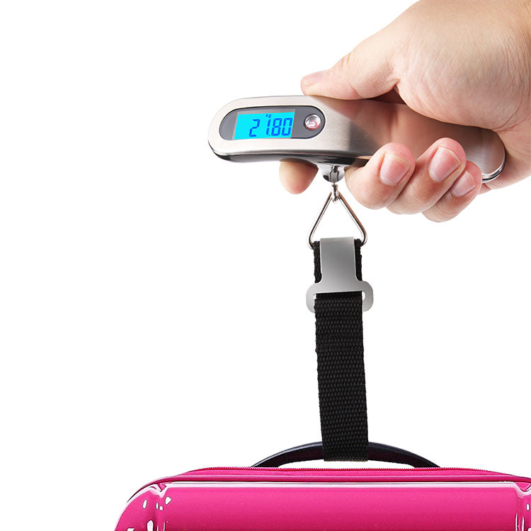 Manufacturer 50kg Portable Fish Hanging Hook electronic weighing Luggage digital weight scale