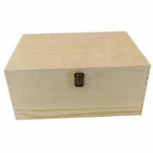 Custom unfinished pine wood box wholesale