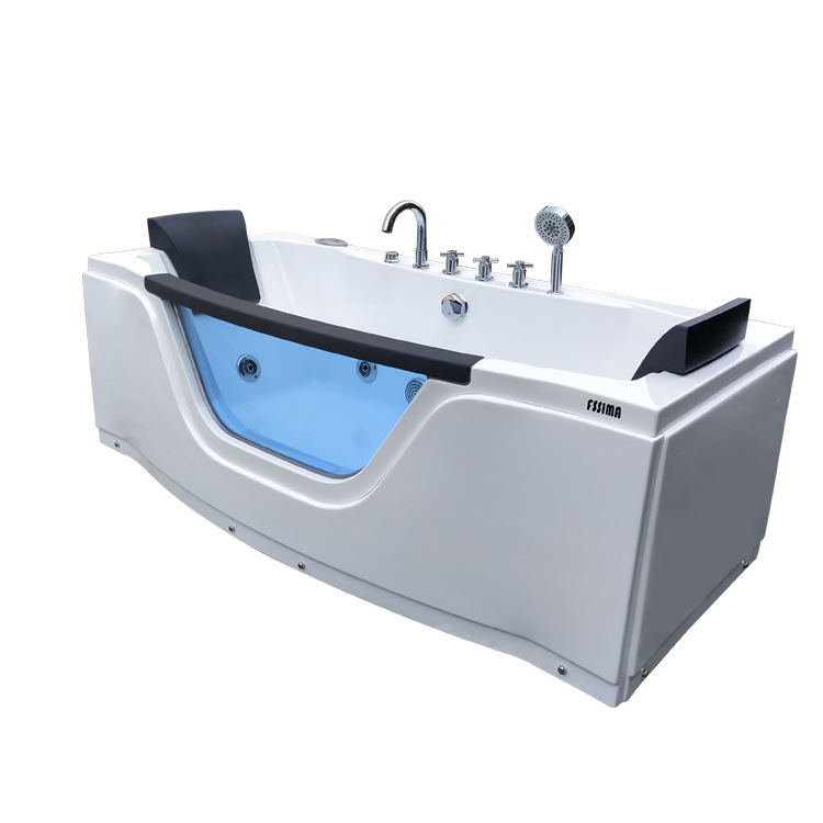 2 person rectangle acrylic whirlpool bath tub for body spa