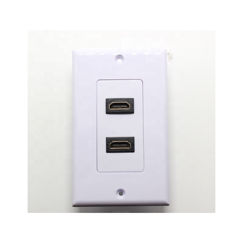 hdmi faceplate 1 port dual port us style wall plate with ear hdmi face plate