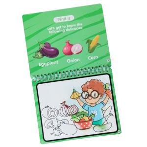 Custom Printing Erasable Colorful Kids Magic Water Drawing Book
