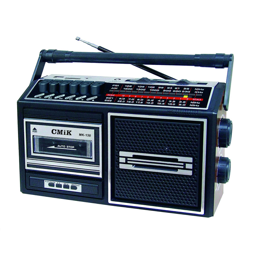 CMiK MK-130 Classical AC DC Vintage Cheap Cassette Player with AM FM SW Radio USB tape drive USB recorder cassette recorder