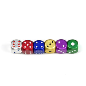 Colorful Custom GIFT 5pcs/set Aluminum Dice Set Metal Case Party KTV Home Game Dices