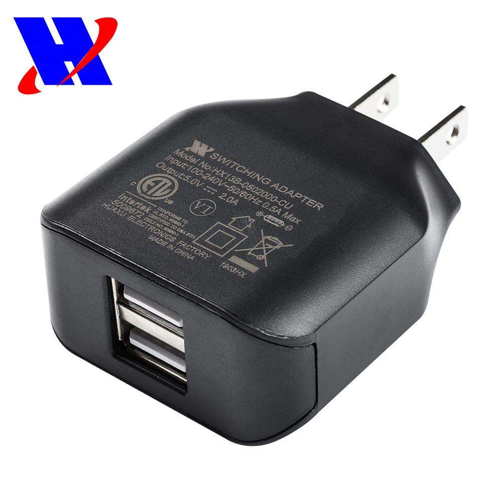Dinding USB Power Adaptor UL Cul 5 V 2A USB Dinding Charger Power Supply DC 5 Volt 2000ma Adaptor AC 5 V 1A