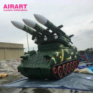 Scud missile launcher inflatable tank model customizes inflatable military decoy