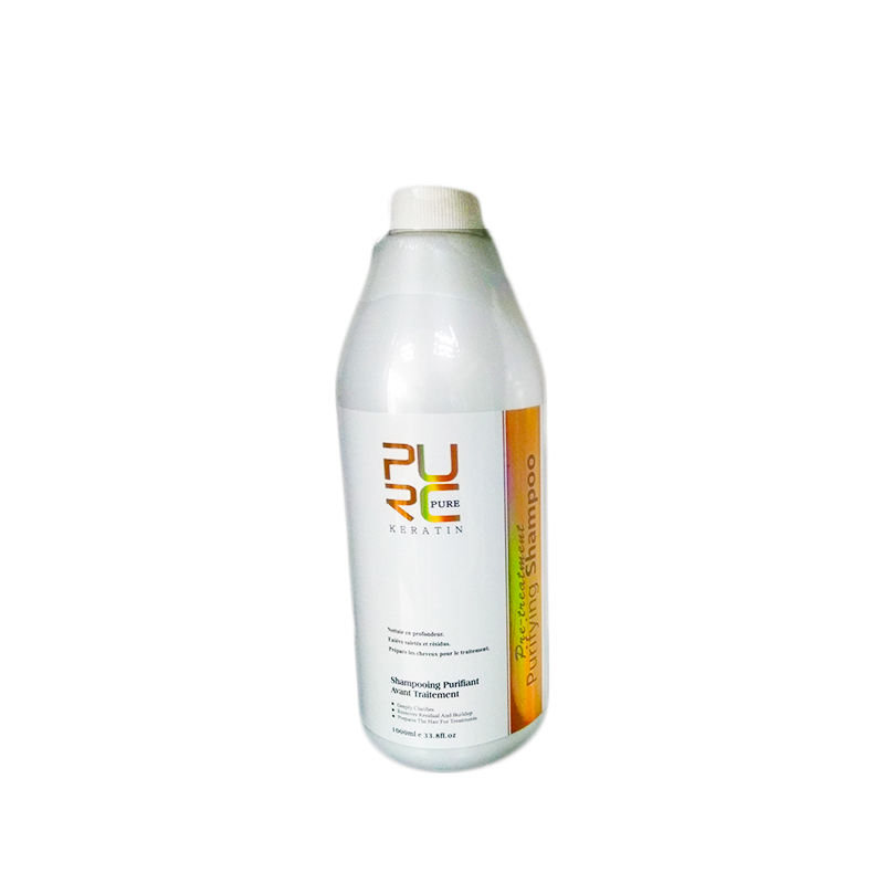 PURC Keratin Purifying Shampoo Used before Keratin Clean Open Cuticle Different Sizes
