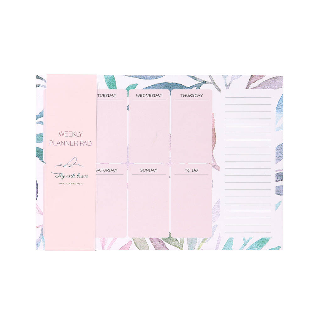 office schedule sticky notes can tear notebook list desktop weekly planner memo pad