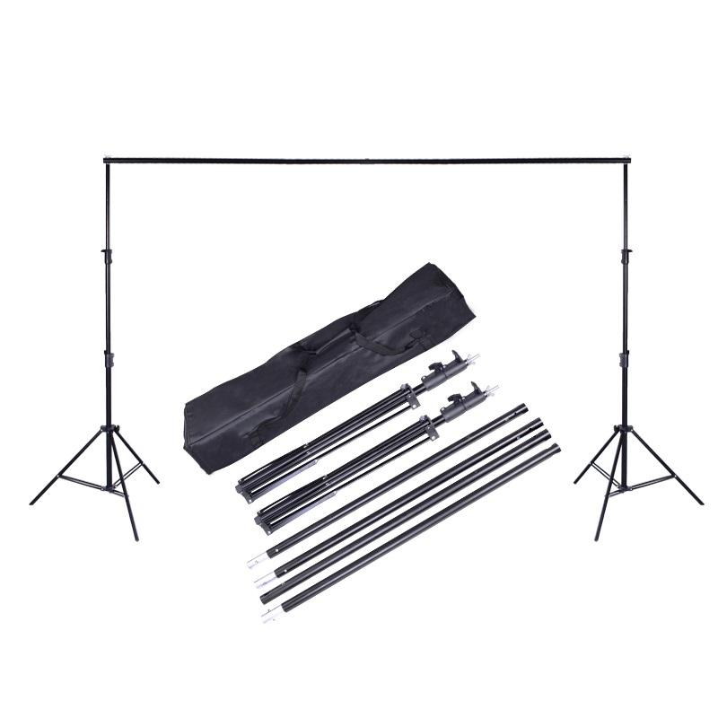 light weight and portable photographic studio background stand and crossbar kit for backdrop
