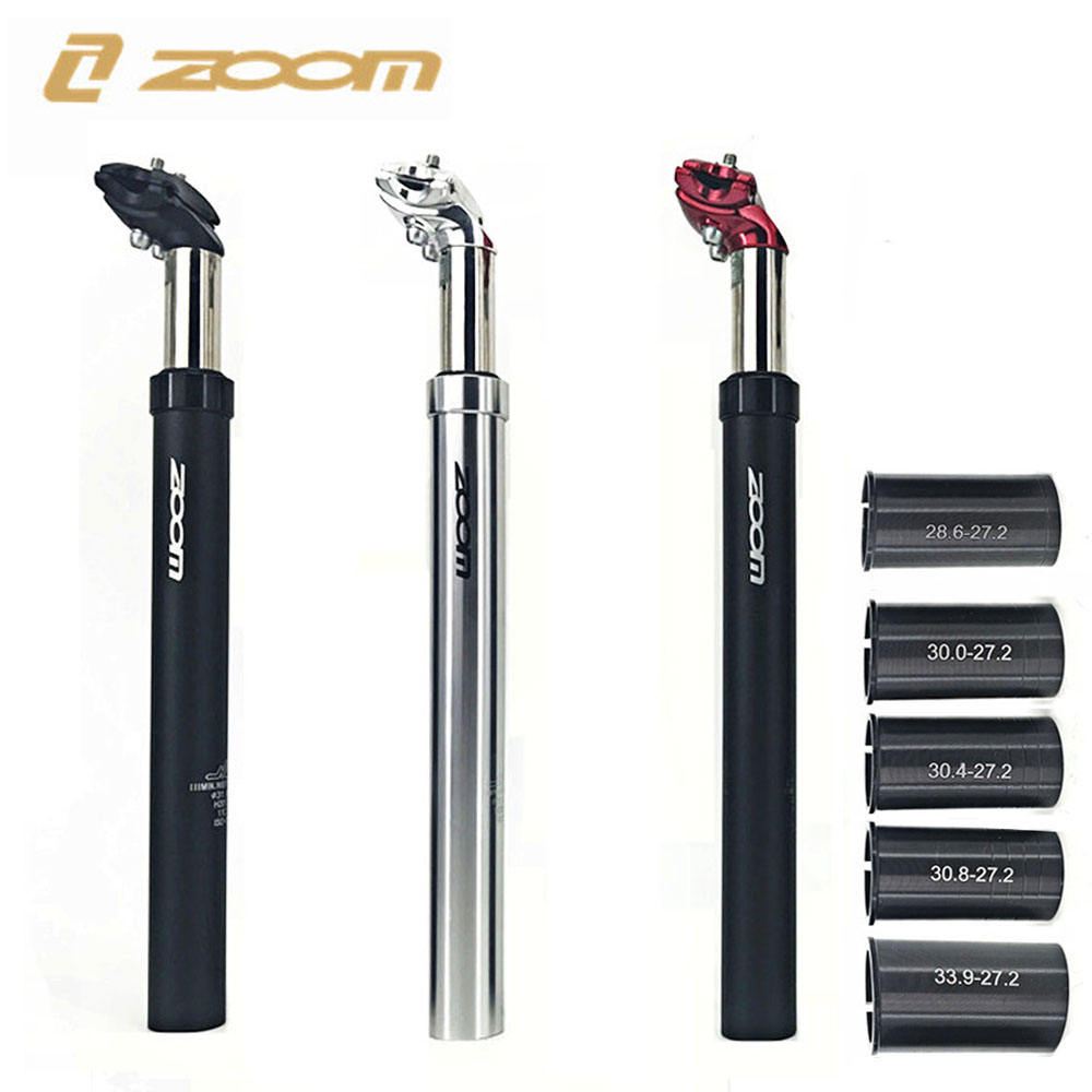 ZOOM 27.2 28.6 Bike Seatpost MTB Shock Absorb Alu Mountain Bicycle Tube Suspension Seat post 30 30.1 30.8 30.4 30.9 31.6 33.9 M