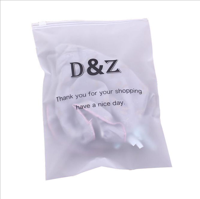 Custom Frosted PE Slider Zipper Poly Bag Plastic t-shirt Zip Lock Clothing Packaging Bags