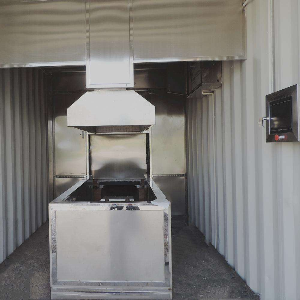 Kremasi Human Incinerators Furnaces High Efficiency CE Containerized System 30 Minutes get Ash 2022