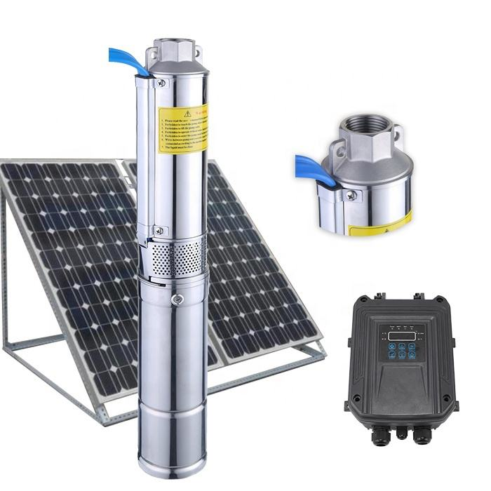 solar water pumping machine solar powered submersible water well pump with controller dc 24v solar water pump irrigation