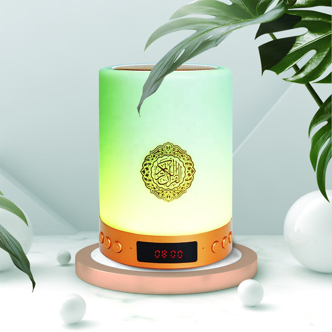 Islamitische <span class=keywords><strong>Mini</strong></span> Draagbare Gift Digit Bluetooth Afstandsbediening <span class=keywords><strong>8Gb</strong></span> <span class=keywords><strong>MP3</strong></span> Gratis Downloaden Touch Lamp Heilige Koran Speaker