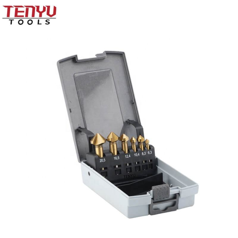 HSS 4241 Cylindrical Shank with 90 Degree Cutting Angle Best Countersink Drill Bit for Metal Cutting