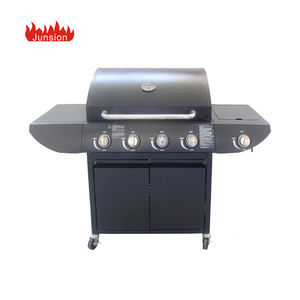 Großhandel Custom Rauchfreien BBQ 4 Brenner Outdoor Grill Gas Grill Maschine für Home Party