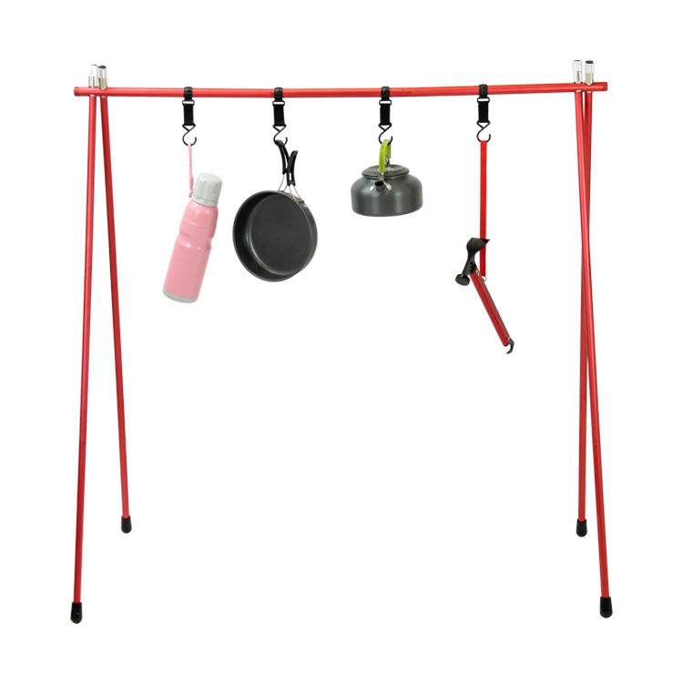 Tianye new outdoor furniture portable folding shelf camping portable hanging rack stand