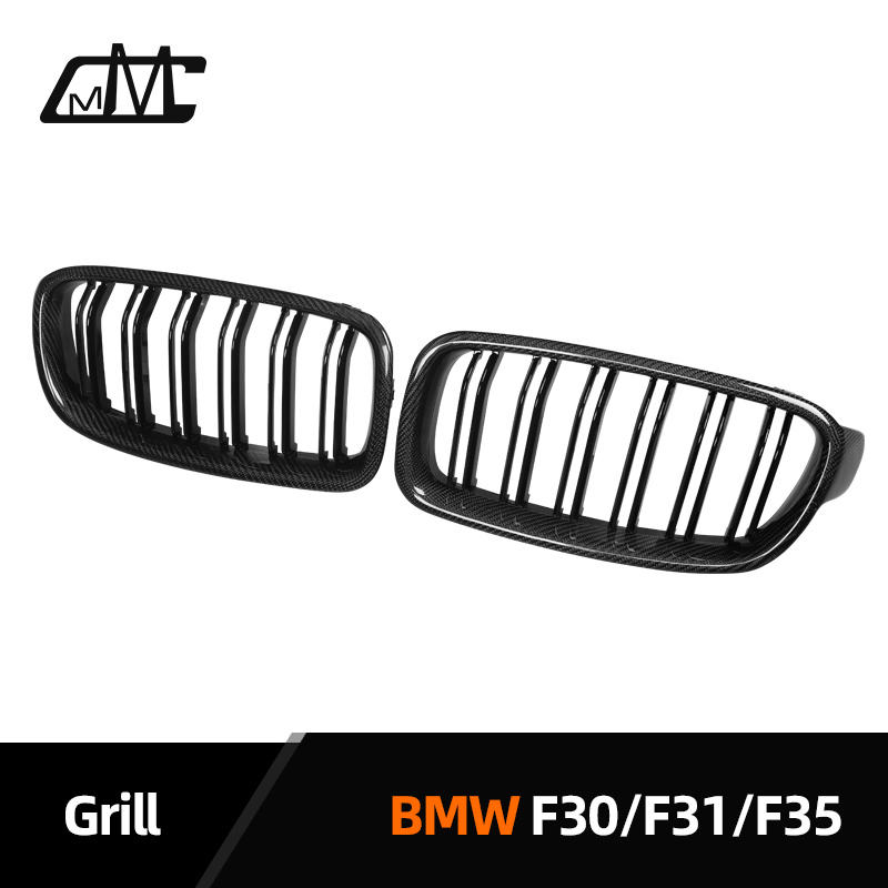 Carbon Black Auto Grille Voor Bmw F30 F31 F35 3 Serie 2012-2016
