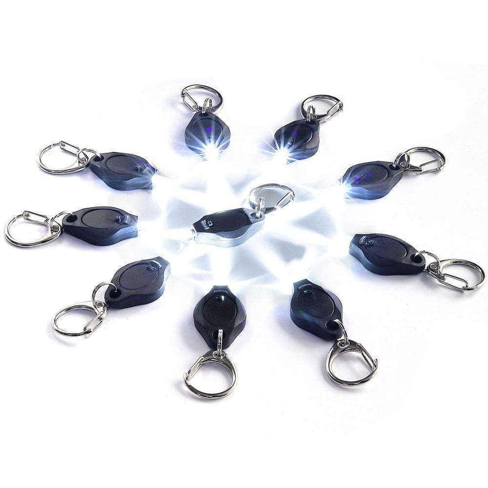 Mini Torch Key Chain Ring PK Keyring White LED Lights,ton II Photon 2 Micro Light Keychain Flashlight