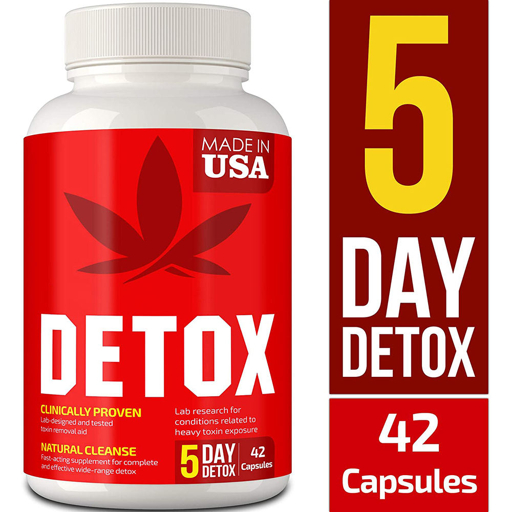 Natural Supplement Diet Detox Slimming Body Vegan Capsule For Cleansing Support System