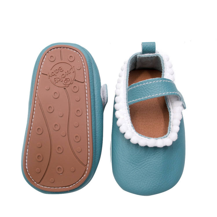 2019 New Genuine Leather Baby Girls Shoes Lace Tassel Baby Dress Shoes