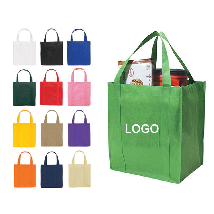 Wholesale high grade reusable tote non-woven shopping pp laminated non woven bag