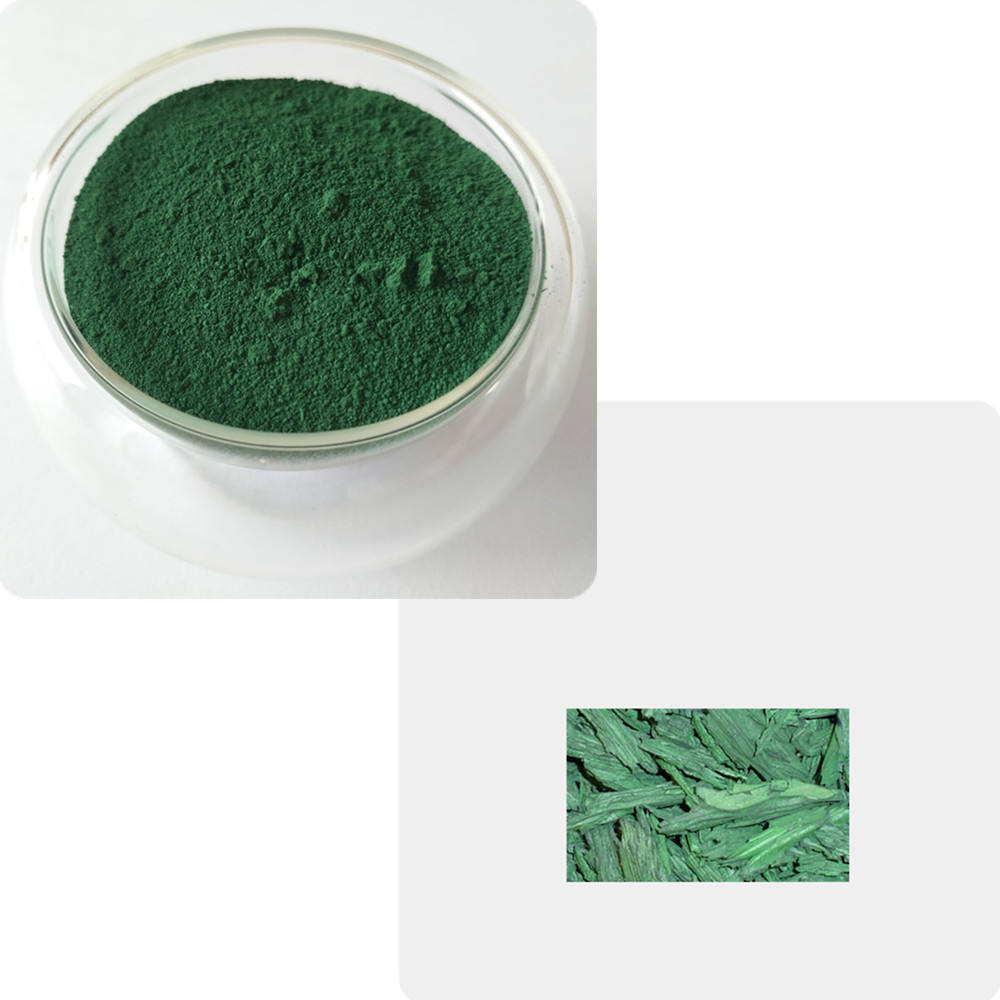synthetic iron oxide green 618 835 5605 mulch colorant powder for wood chips mulch dye