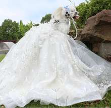 Popular White Pet Dog Wedding Dress