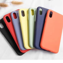 for iPhone Apple 12 Silicone Case With Customized Logo Liquid Silicone Cover Fiber Inside Silicon Back Cover for iPhone 11 SE
