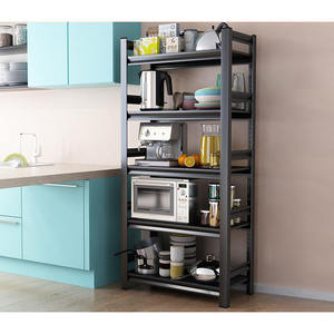Corner Steel Shelves Multi Layer Microwave Oven and Kitchen Products Storage Rack Kichen Stand Shelf