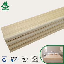 Factory price strengthen lvl wooden slats bed frame