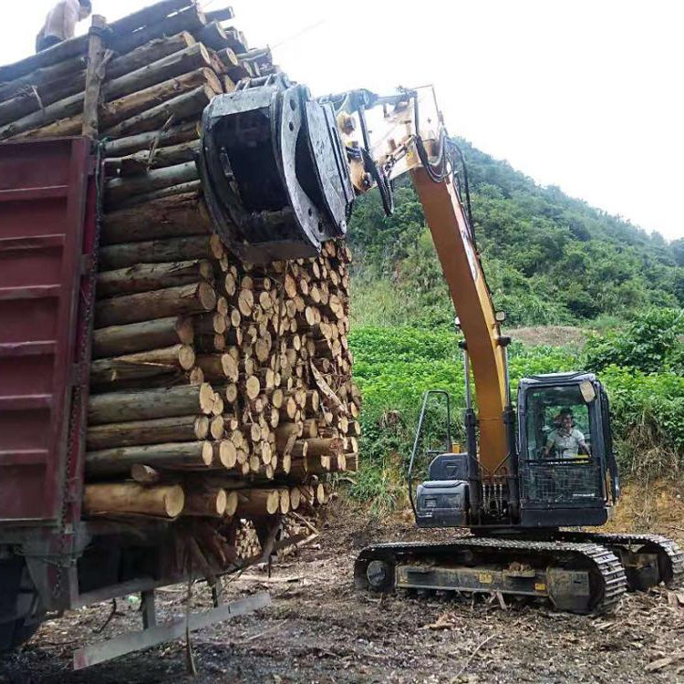 360 degraee hydraulic rotating wood grab log grapple for Excavator