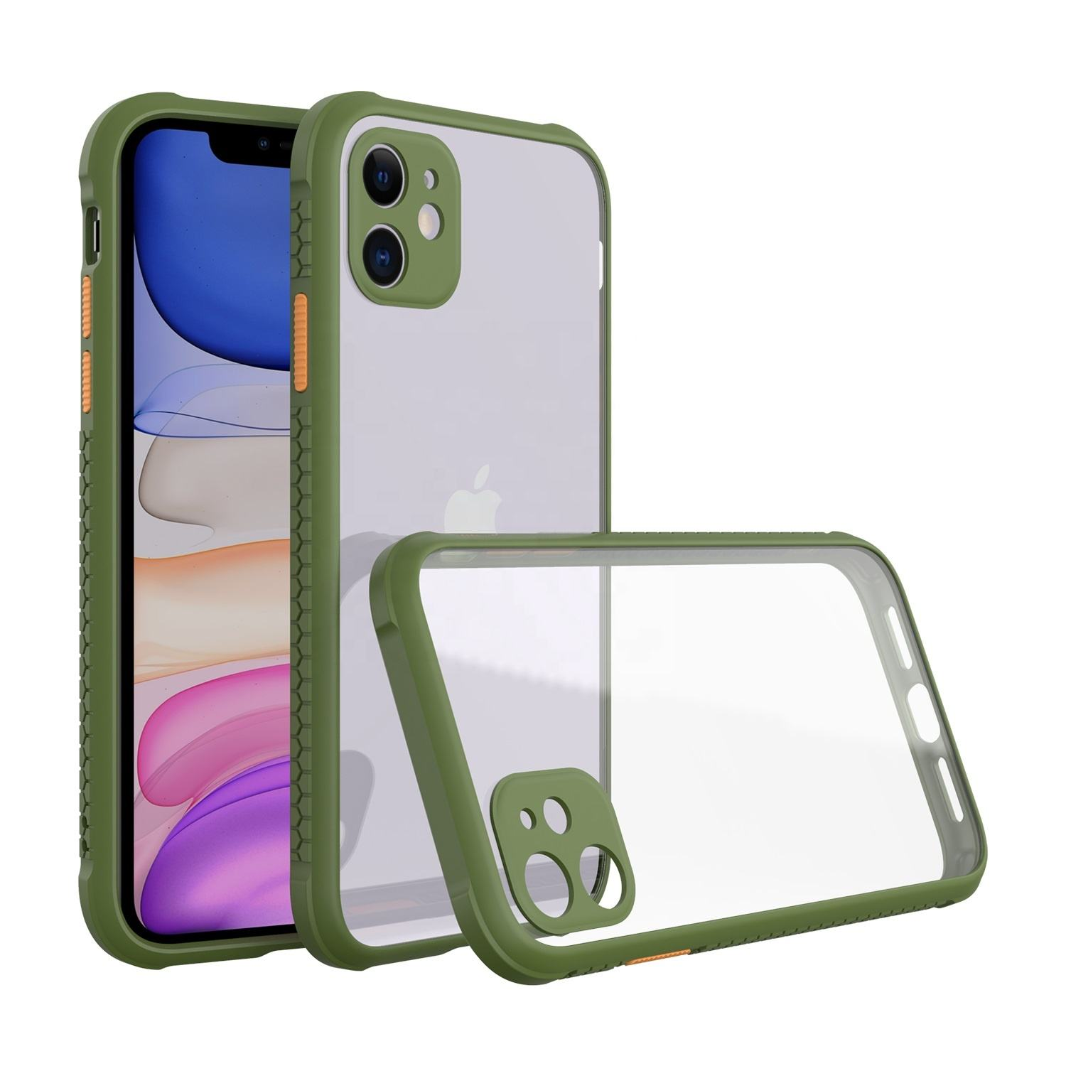 Mobile Cover Supplier Shock Proof Acrylic Hand Phone Case with TPU Frame for Apple iPhone 11 Pro Max XS XR X 9 8 Plus 7 SE 2020