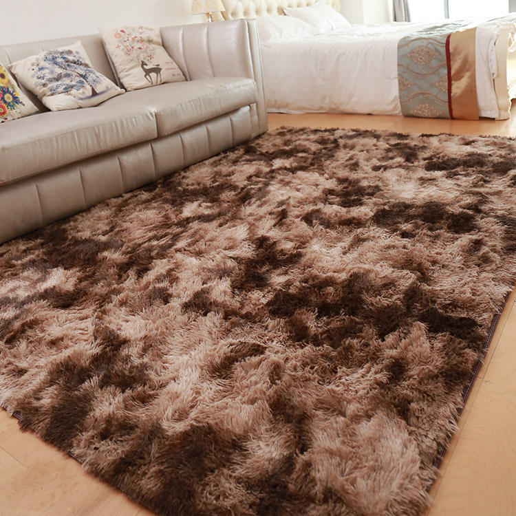 Long-haired Nordic minimalist carpet sofa living room bedside floor mats