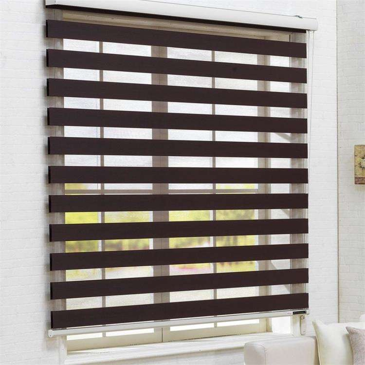 SUNC PVC+Polyester Horizontal Zebra Blinds Dual Layer Roller Blinds