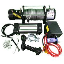 12V Steel Cable Electric Winch  with  12000 lb Load Capacity