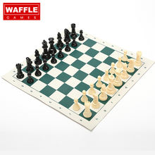 WG Rubber Traveling Chess Set With Plastic Chessmen and Carrying case