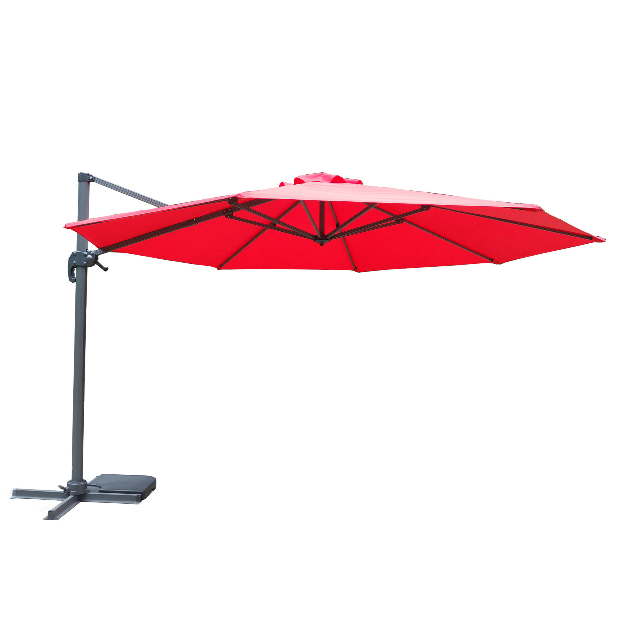 Durable 3m Round Aluminum Cantilever Roma Parasol with Rotation base