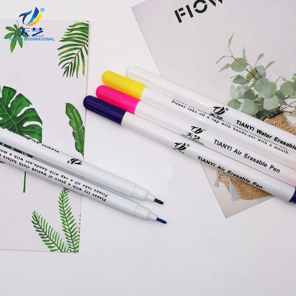 Textile marking pen Fabric Pen Disappearing Ink Makring Pen 6 Assorted Colors Fabric Markers for Tracing garment