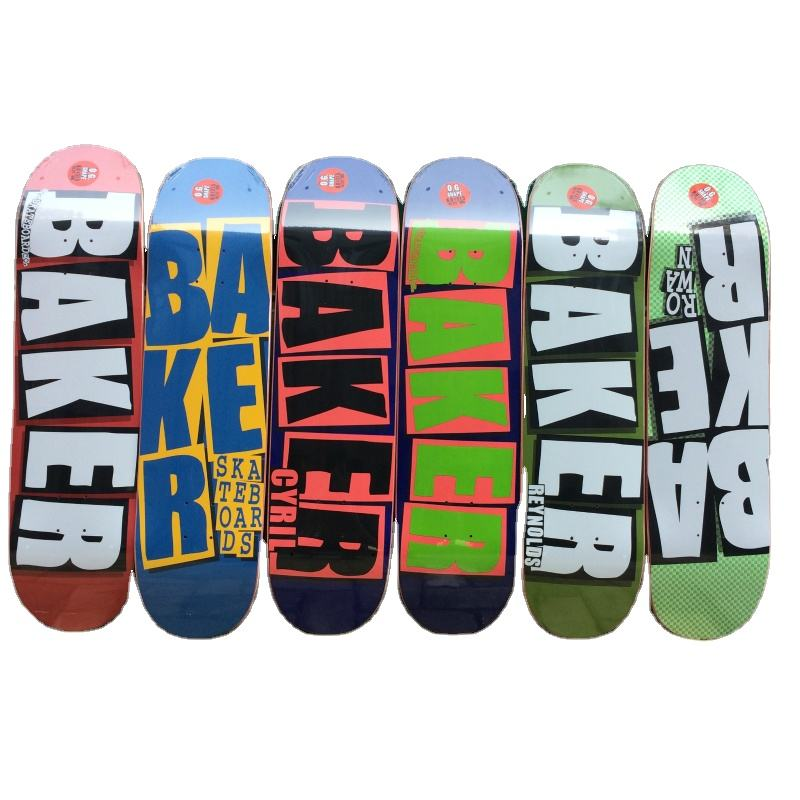 skateboard deck baker Professional Canadian Maple 8.0 inch High-end Double Warped skateboard Popular skateboard